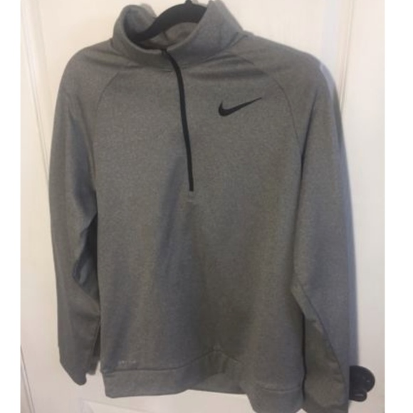 Nike Half Zip Pullover Grey Medium